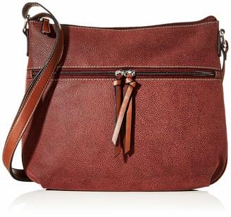 N.V. Bags Womens FIR Shoulder Bag Purple (Burgundy)