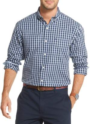 Izod Saltwater Classic-Fit Checked Button-Down Shirt