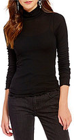 Free People Modern Cuff Mock Neck Long Sleeve Fitted Layering Tee