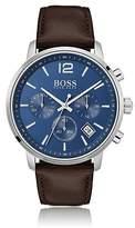 Hugo Boss Stainless-steel chronograph watch with matt blue dial