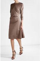 Jil Sander Draped Cotton Dress