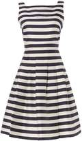 Eliza J Sleeveless striped fit and flare dress