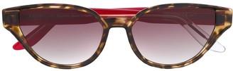 S'nob Sfitinzia contrast cat-eye sunglasses