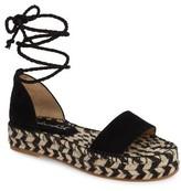 Splendid Women's Eliza Platform Ankle Wrap Espadrille