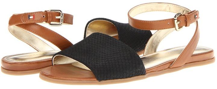 Tommy Hilfiger Laila (Black/Luggage) - Footwear