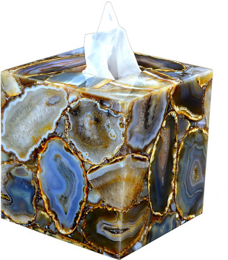 Mike and Ally Taj Agate Tissue Box Cover