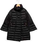 Moncler Girls' Double-Breasted Puffer Coat
