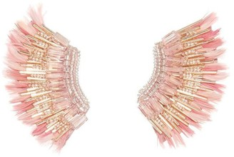 Mignonne Gavigan Feather Mini Madeline Earring in Pink