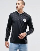 Reebok Vector Retro Long Sleeve T-Shirt In Black AZ9550