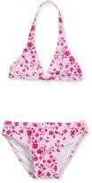 Oscar de la Renta Classic Floral Halter Bikini, Pink, Size 4-14