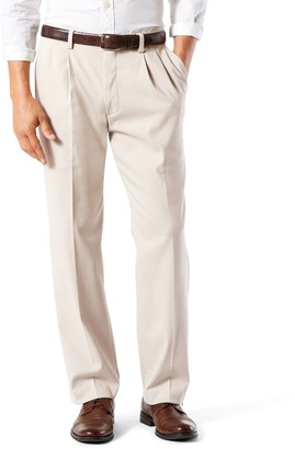 Dockers Men's Stretch Easy Khaki Classic-Fit Pleated Pants