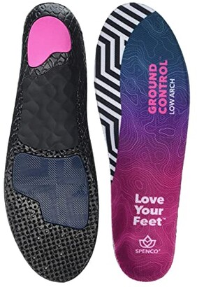 Spenco Ground Control Low Arch (Black) Insoles Accessories Shoes