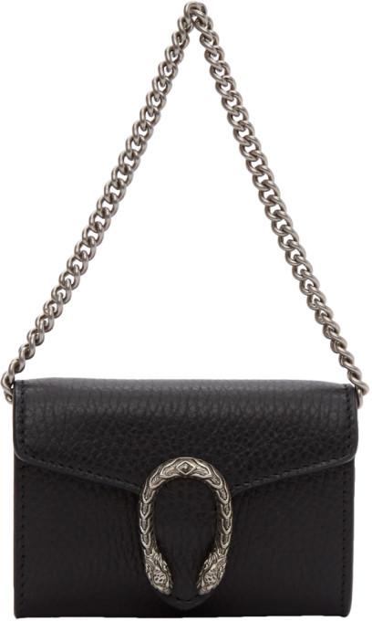 Gucci Black Dionysus Coin Case Bag