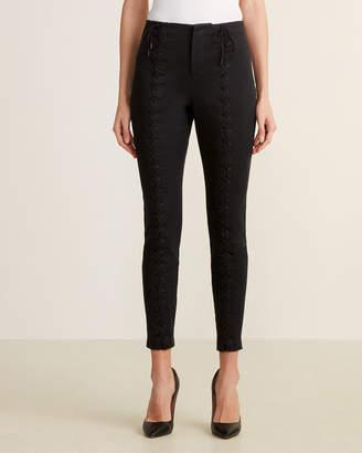 A.L.C. Black Kingsley Lace-Up Pants