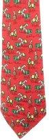 Hermes Silk Horse Print Tie
