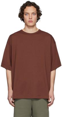 Dries Van Noten Brown Half-Sleeve T-Shirt