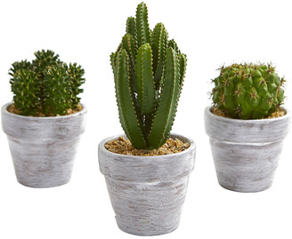 Nearly Natural Set Of 3 8-In. Cactus Artificial Plant