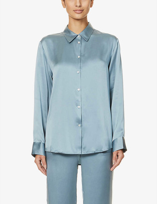 ASCENO London silk-satin pyjama top