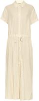 Raquel Allegra Drawstring-waist cotton shirtdress