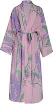 Bernadette Antwerp Peignoir Silk Crepe De Chine Kimono Dress
