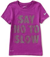 Nike Big Girls 7-16 Dri-FIT Say No To Slow Tee