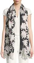 Valentino Rododendro Re-Edition Floral Silk Stole