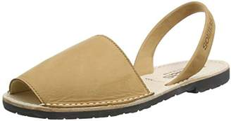 Solillas Original Women's Menorcan Sandals - Tan Nubuck Leather - / 38 EU