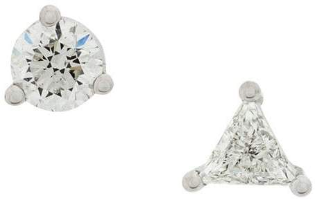 Delfina Delettrez 18kt white gold Dots Solitaire diamond earrings
