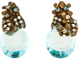 Miriam Haskell Floral Crystal Clip-On Earrings