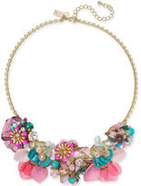 "Kate Spade necklace Gold-Tone Flower Statement Necklace, 17"" + 3"" extender"