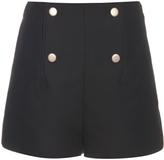 Balenciaga Button-front cotton and silk-blend shorts