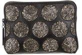 3.1 Phillip Lim Crystal Embellished Leather Zip Pochette