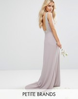 TFNC Petite Wedding High Neck Maxi Dress With Embellished Low Back