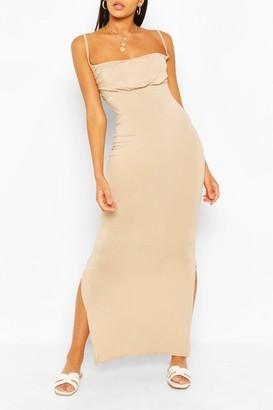 boohoo Rouche Bust Maxi Dress