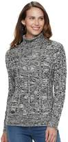 Croft & Barrow Petite Turtleneck Cable-Knit Sweater