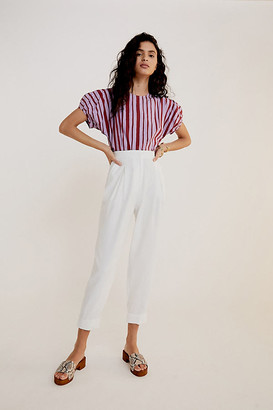 Anthropologie Scout Tapered Slim Pants By in White Size 24