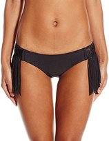 Luli Fama Women's Heart Of A Hipipe Weave Moderate Bikini Bottom