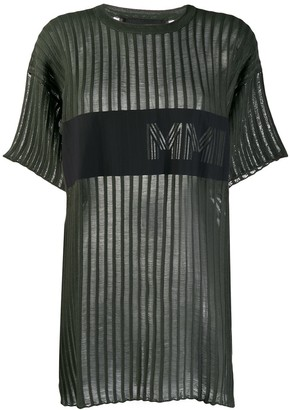 Mr & Mrs Italy ribbed longline T-shirt
