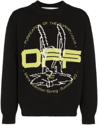 Off-White Harry the Bunny intarsia knit jumper