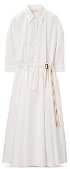 Tory Burch Poplin Midi Shirt Dress