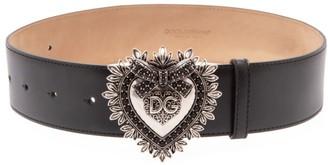 Dolce & Gabbana Logo Hardware Leather Belt