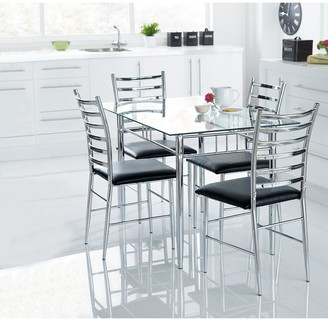 Elect 120 cmGlass Dining Table + 4 Chairs