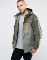 Columbia Pouring Adventure Hooded Jacket 2 Tone Waterproof In Green