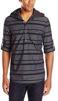Buffalo David Bitton Men's Savir Long Sleeve Pop Over Woven Shirt