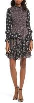 Rebecca Taylor Women's Mixed Print A-Line Silk Dress