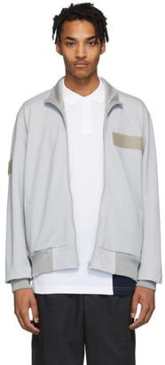 GR10K Grey Pique Plant Zip Sweater