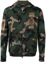 Valentino camouflage print hoodie - men - Cotton/Polyamide - S