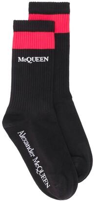 Alexander McQueen Ribbed Logo Socks