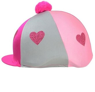 Hy Love Heart Glitter Helmet Cover
