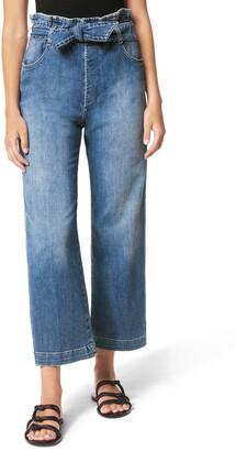 Joe's Jeans Paperbag Waist Crop Wide Leg Jeans